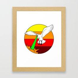 Laser Seagull Funny Retro Seagull Design Framed Art Print