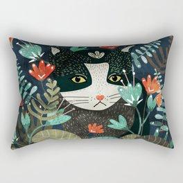 Curious Cat Rectangular Pillow