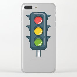 Traffic Light Product for School Kids or Driver  Design Clear iPhone Case