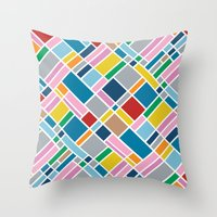 karu kara Throw Pillows featuring Map Outline 45  by Project M
