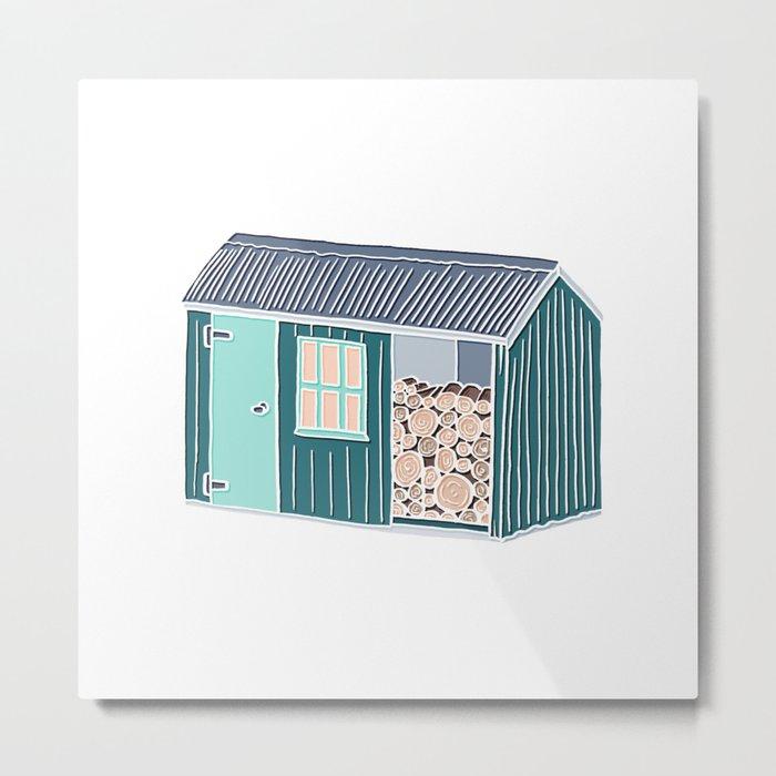 Little Log Cabin Metal Print