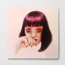 Mia's eyes   Metal Print