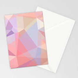 Powder Geometry - bright Stationery Cards