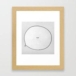 Small Talk Framed Art Print