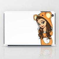 onesie iPad Cases featuring Bear Onesie by Milou Baars