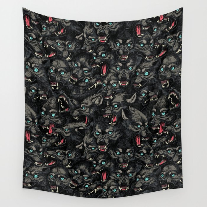 Wolf Pack Pattern Wall Tapestry