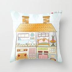 I {❤} Dollhouse Throw Pillow