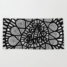 Black and White Doodle 7 Beach Towel