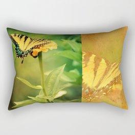 Yellow Swallowtail Butterfly on Zinnia Rectangular Pillow