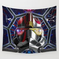 pilot Wall Tapestries featuring Bipolar Pilot by Fotoilusionista