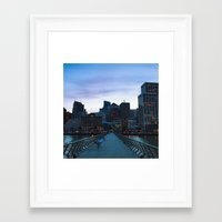 metropolis Framed Art Prints featuring Metropolis by Pan Kelvin