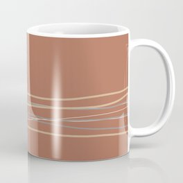 Sherwin Williams Cavern Clay Warm Terracotta SW 7701 with Scribble Lines Bottom in Accent Colors Coffee Mug