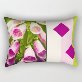 Painted Foxgloves Rectangular Pillow