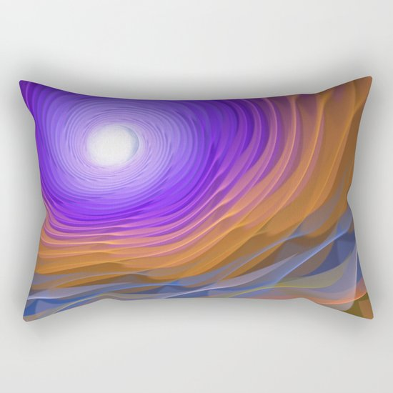 Whispering water and a blue moon Rectangular Pillow