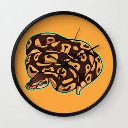 Pastel Ball Python Wall Clock