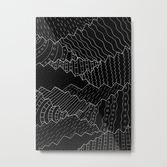 The black and white mountains Metal Print