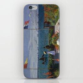Garden at Sainte-Adresse by Claude Monet iPhone Skin