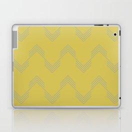 Simply Deconstructed Chevron Retro Gray on Mod Yellow Laptop & iPad Skin