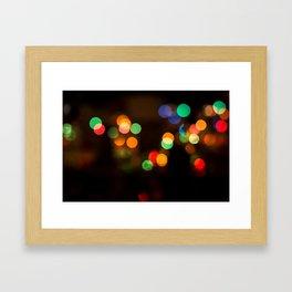 Coloured Bokeh Balls Framed Art Print