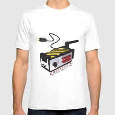 Ghostbusters White MEDIUM Mens Fitted Tee