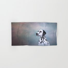 Drawing Dog Dalmatian Hand & Bath Towel
