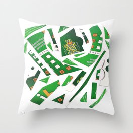 Carrousel collage Throw Pillow