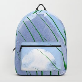 Green nature in blue world Backpack