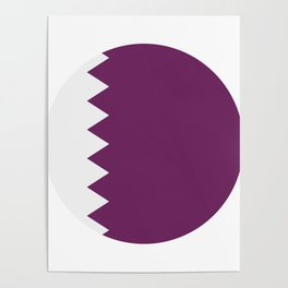 flag of qatar Poster
