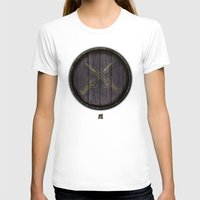 skyrim T-shirts featuring Shield's of Skyrim - Riften  by VineDesign