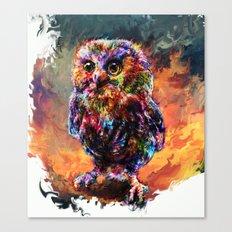 brave little owl Canvas Print