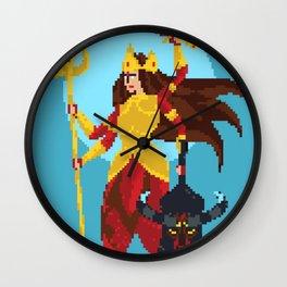 Durga Pixel Art Wall Clock