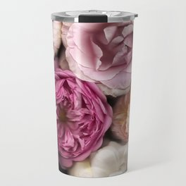 Pink, Purple, and White Roses Travel Mug