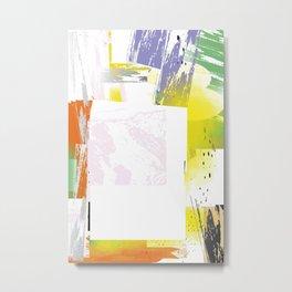 Abstract Border Metal Print