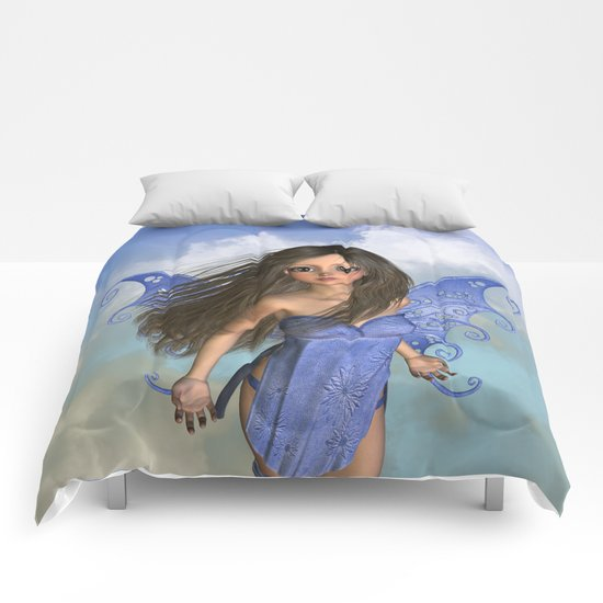 Fairy Flight Bleu 2 Comforters