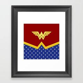 Wonder Of Woman - Superhero Framed Art Print