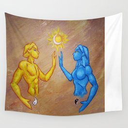 Binary Opposites Wall Tapestry