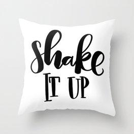 Shake It Up: white Throw Pillow