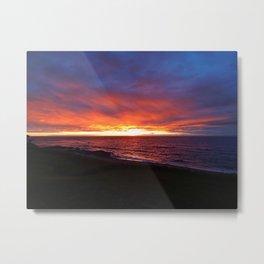 Beach Sunset on the Sea Metal Print