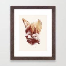 Blind fox Framed Art Print