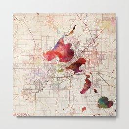 Madison map Metal Print