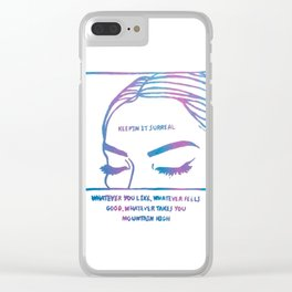 Keepin It Surreal Clear iPhone Case