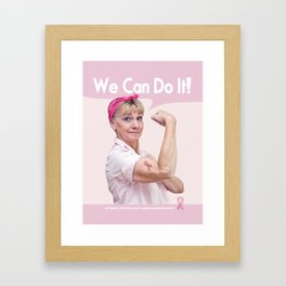 We Can Do It! Breast Cancer Month Framed Art Print