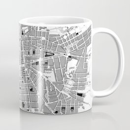 Vintage Map of Marseille France (1840) BW Coffee Mug