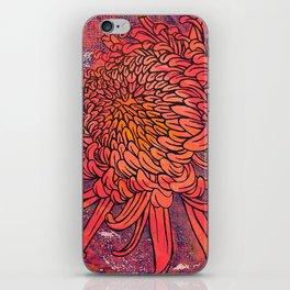 Chrysanthemum (Silk screen & fine liner) iPhone Skin