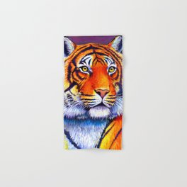 Colorful Bengal Tiger Portrait Hand & Bath Towel