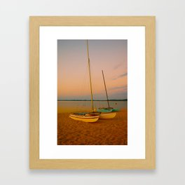 Two Boats at Sunset Framed Art Print