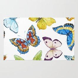 Butterfly Pattern 01 Rug