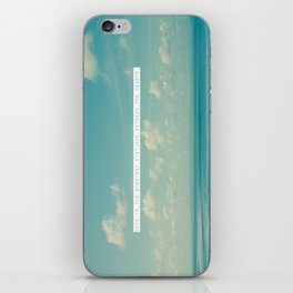Love is the shortest distance between two hearts. iPhone Skin