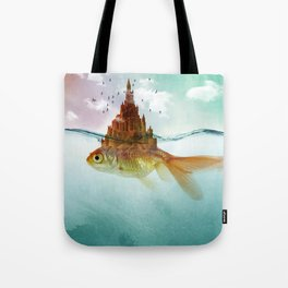 Goldfish Castle Tote Bag