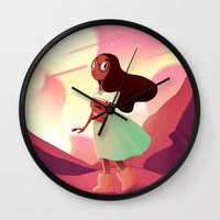 steven universe Wall Clocks featuring Connie - Steven Universe by theconsy